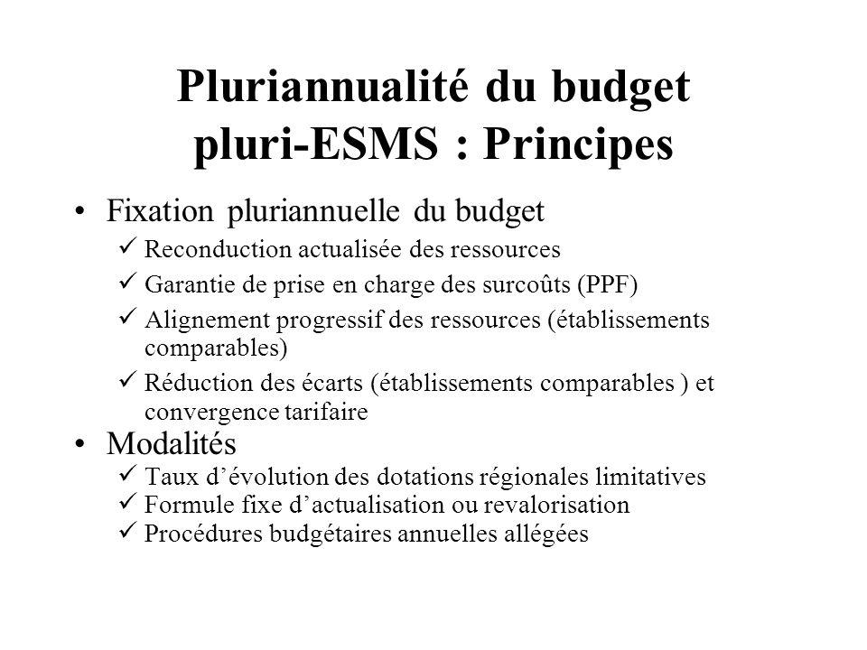 Pluriannualité du budget pluri-ESMS : Principes