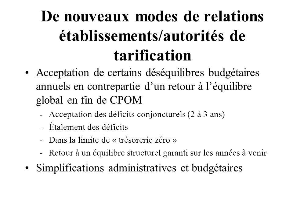 De nouveaux modes de relations établissements/autorités de tarification
