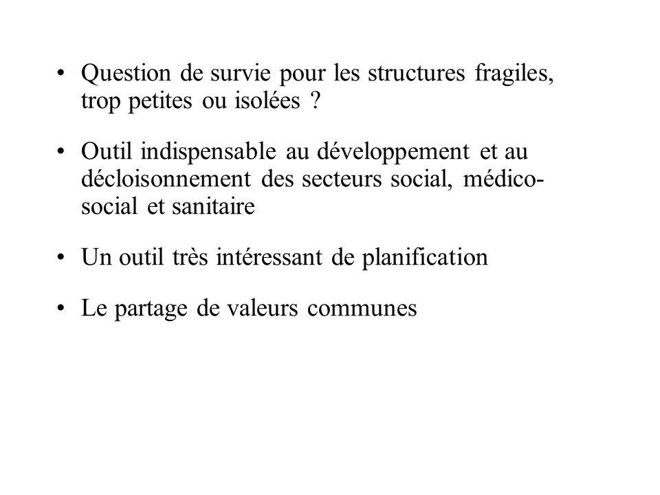 Question de survie pour les structures fragiles, trop petites ou isolées