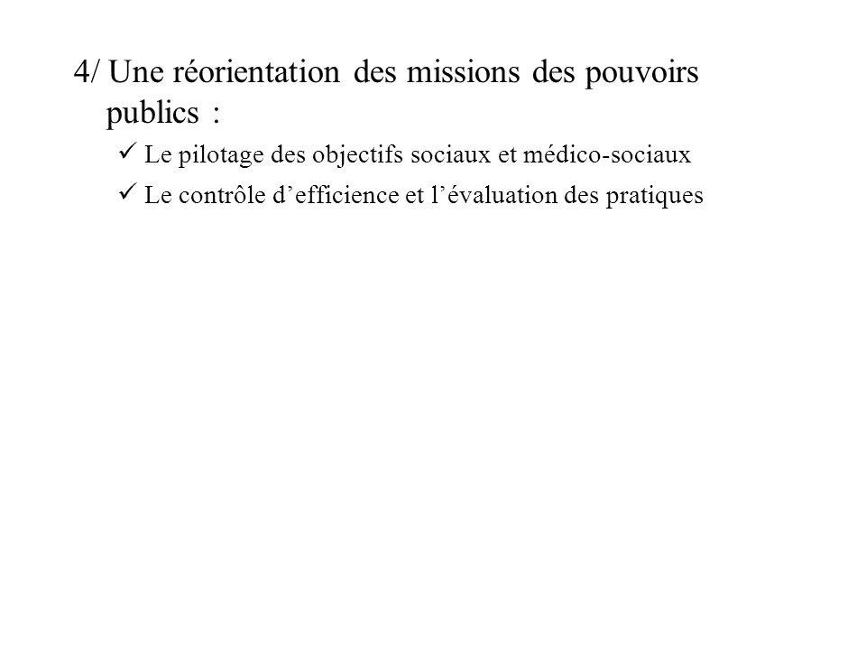 4/ Une réorientation des missions des pouvoirs publics :