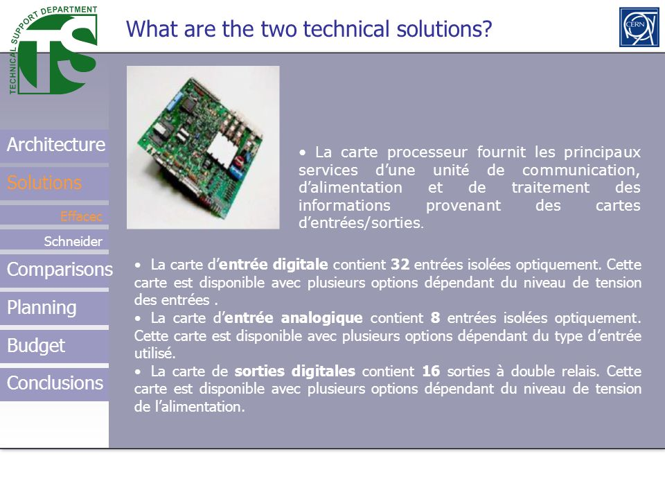 What are the two technical solutions