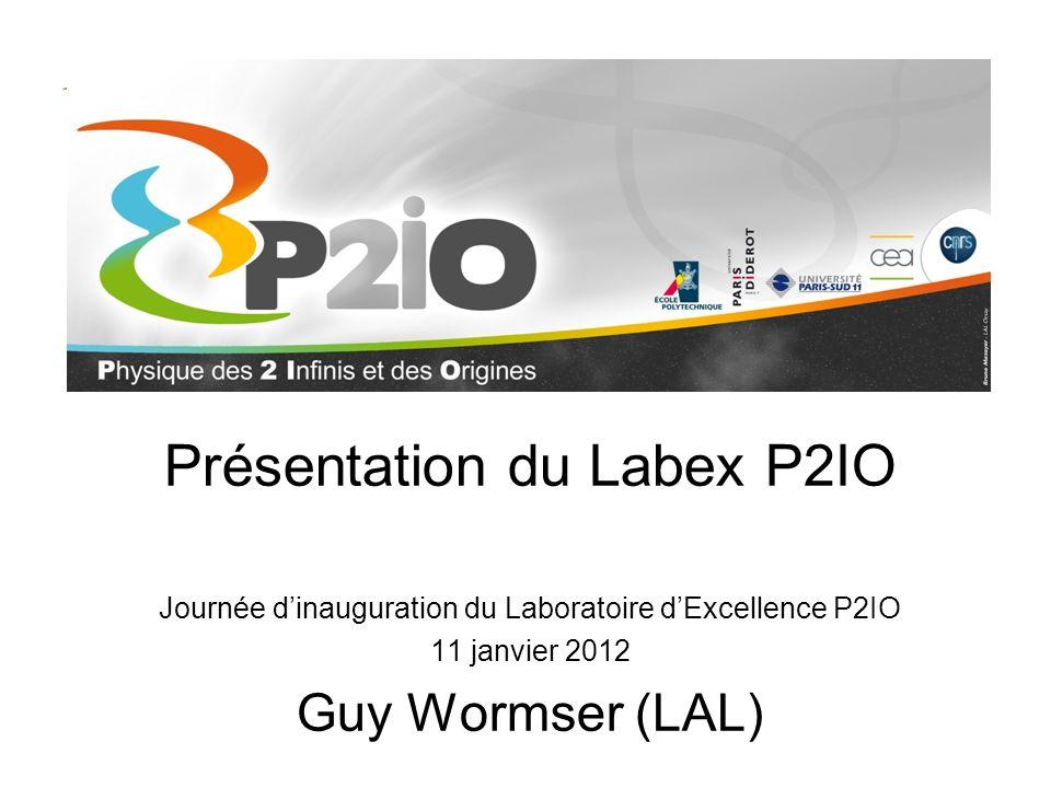Présentation du Labex P2IO