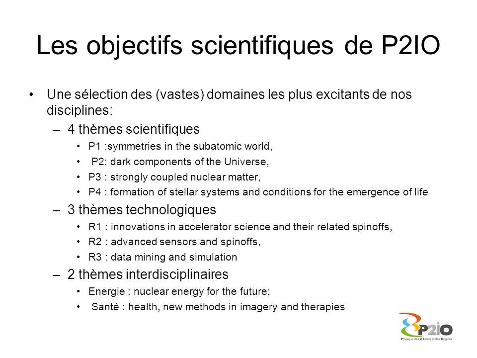 Les objectifs scientifiques de P2IO