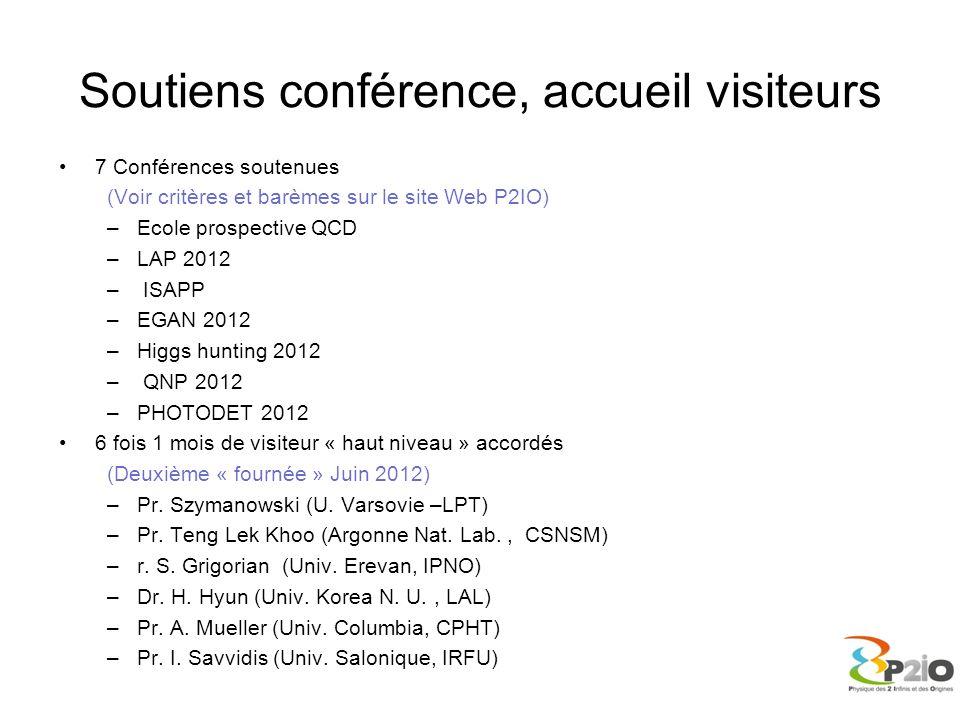 Soutiens conférence, accueil visiteurs