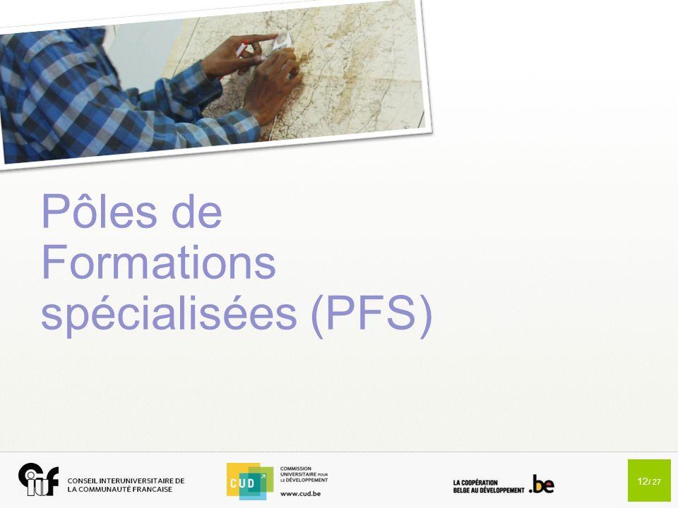 Pôles de Formations spécialisées (PFS)