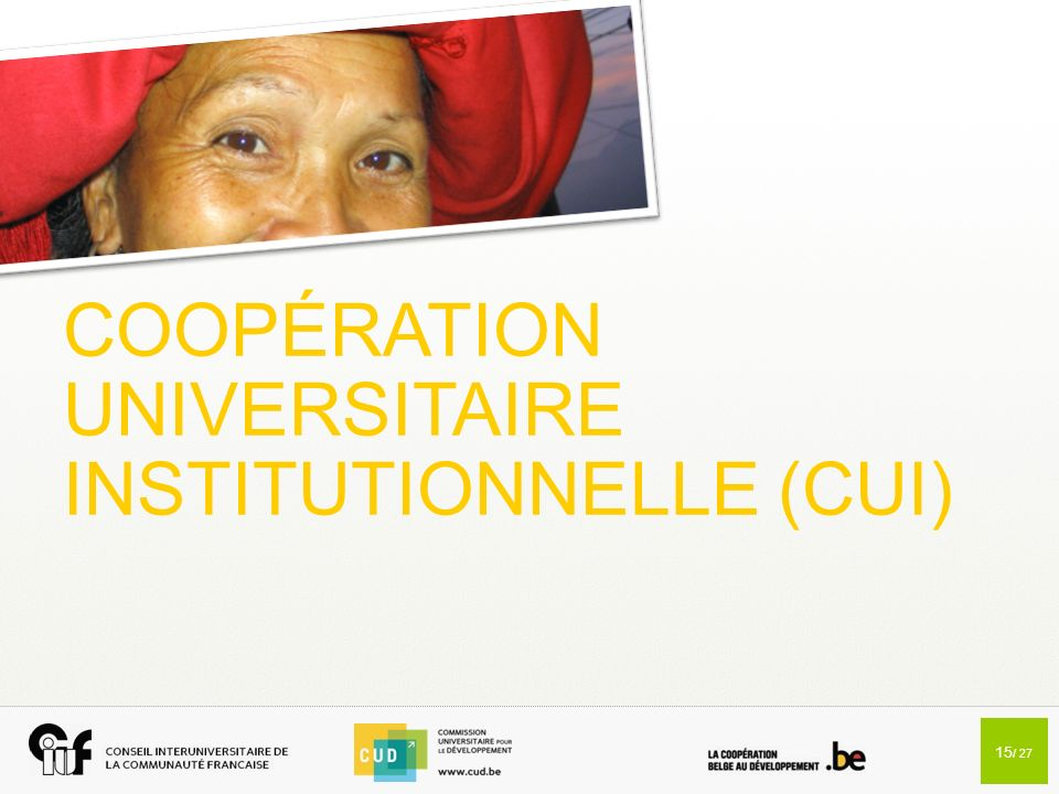 COOPÉRATION UNIVERSITAIRE INSTITUTIONNELLE (CUI)