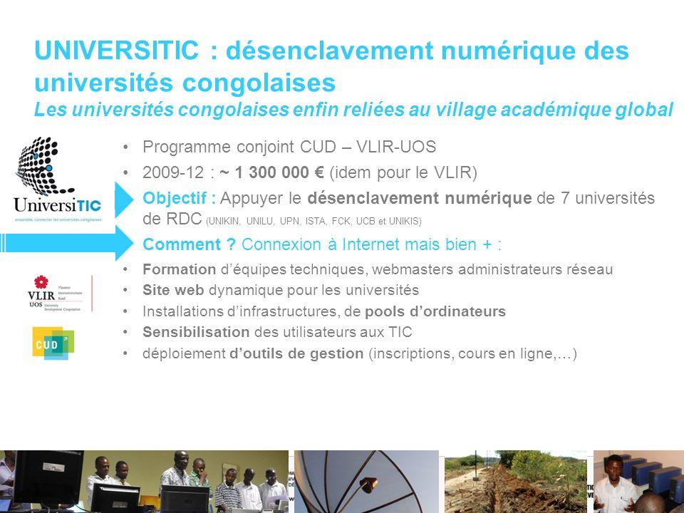 UNIVERSITIC : désenclavement numérique des universités congolaises