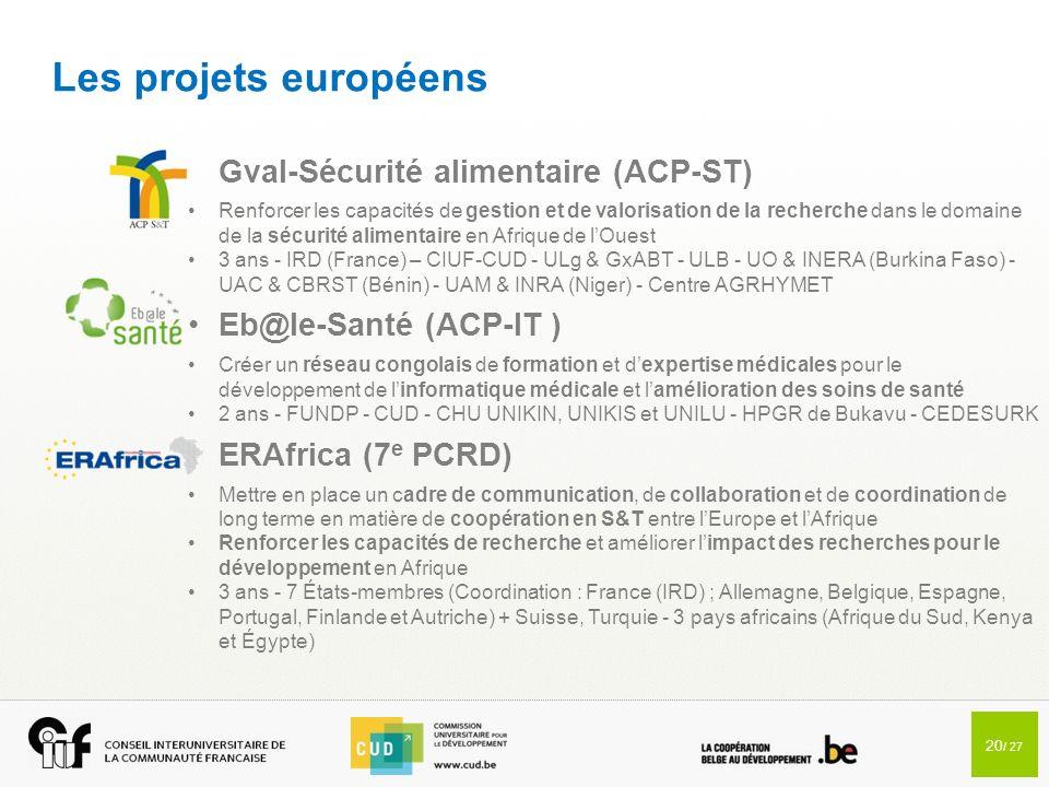 Les projets européens Gval-Sécurité alimentaire (ACP-ST)