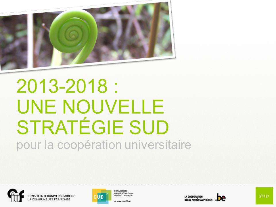 2013-2018 : UNE NOUVELLE STRATÉGIE SUD pour la coopération universitaire