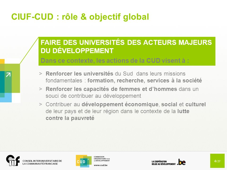 CIUF-CUD : rôle & objectif global