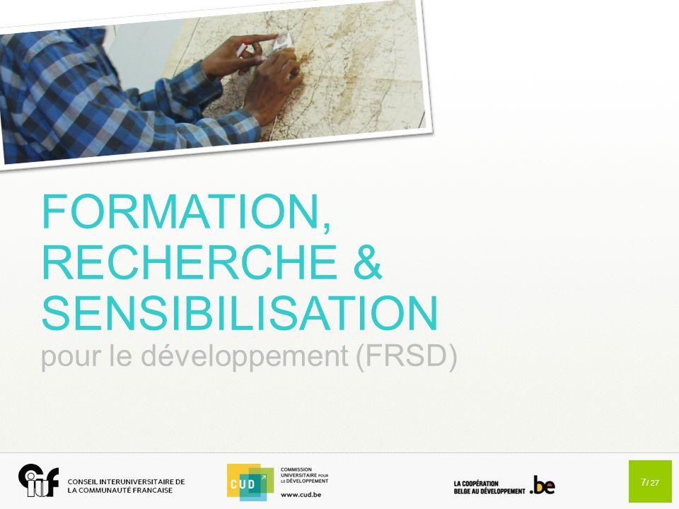 FORMATION, RECHERCHE & SENSIBILISATION pour le développement (FRSD)