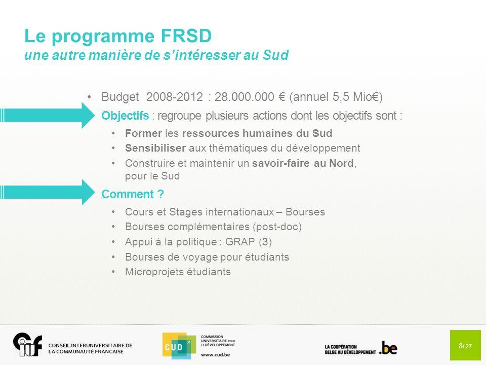 Le programme FRSD une autre manière de s'intéresser au Sud