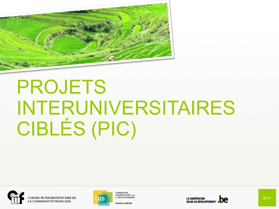 PROJETS INTERUNIVERSITAIRES CIBLÉS (PIC)
