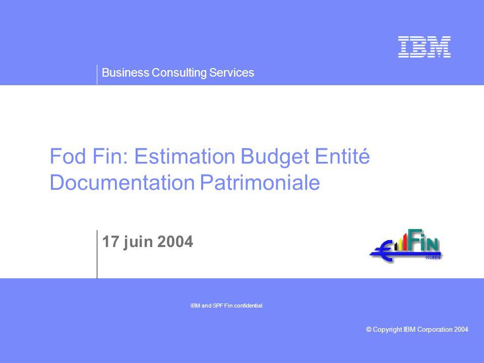 Fod Fin: Estimation Budget Entité Documentation Patrimoniale