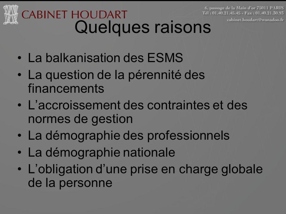 Quelques raisons La balkanisation des ESMS