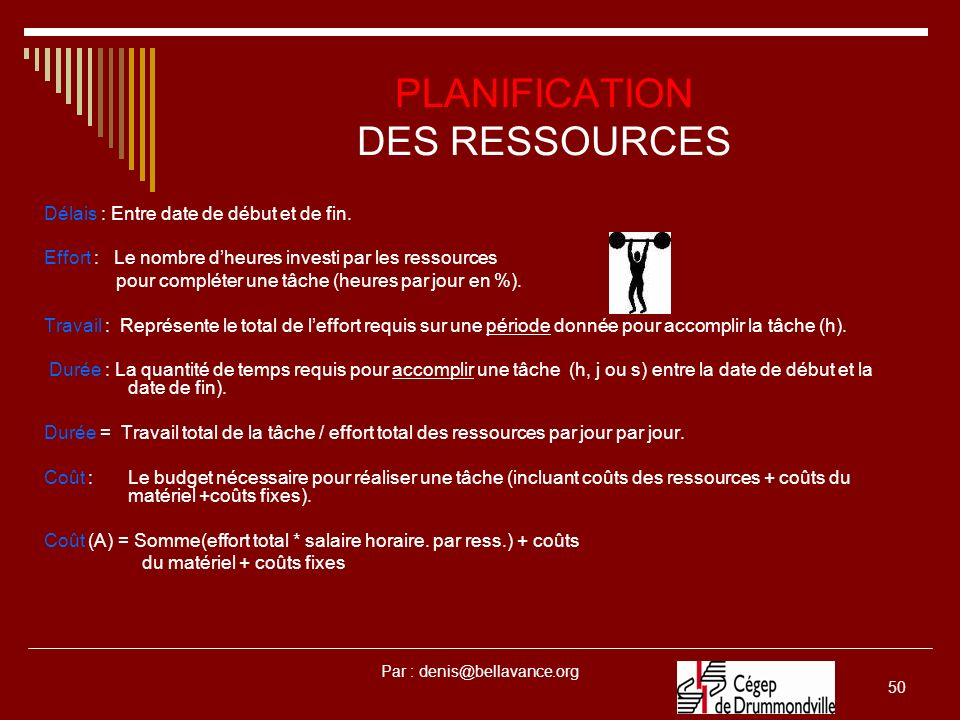 PLANIFICATION DES RESSOURCES