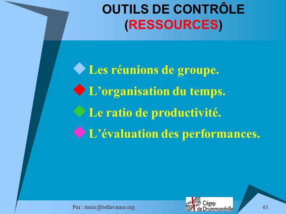OUTILS DE CONTRÔLE (RESSOURCES)