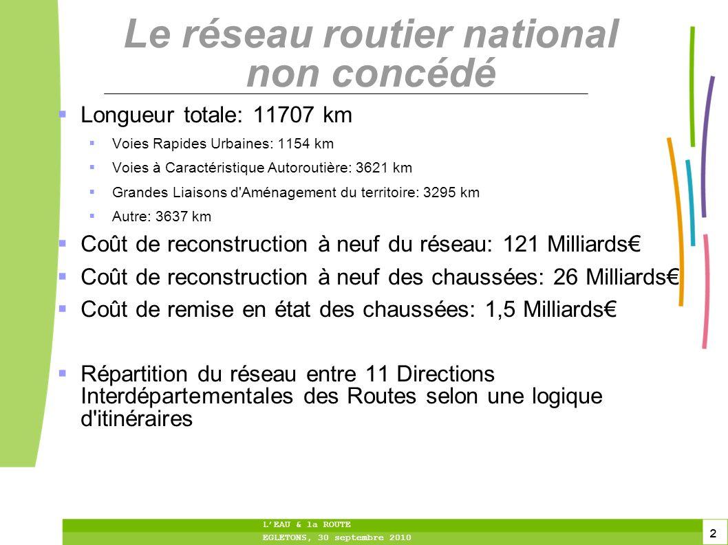 Le réseau routier national non concédé