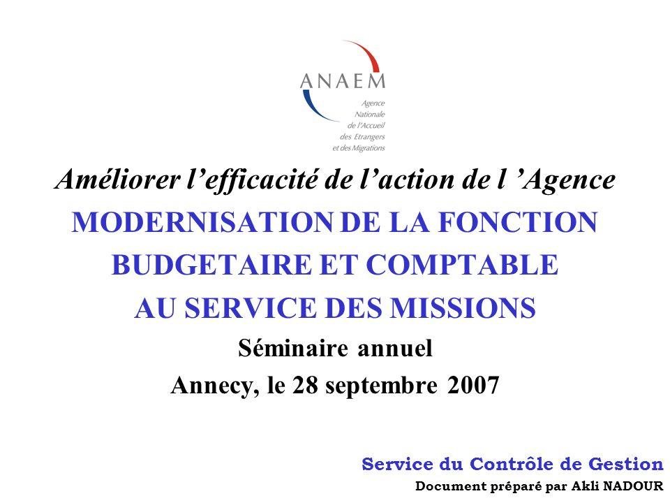 Améliorer l'efficacité de l'action de l 'Agence