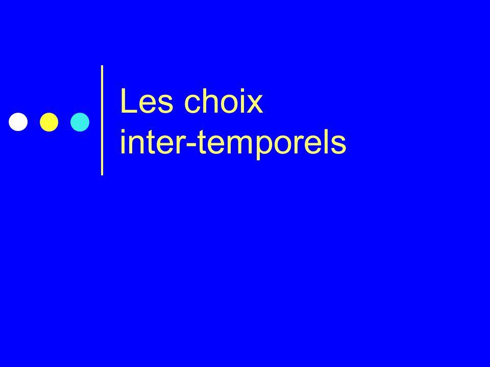 Les choix inter-temporels