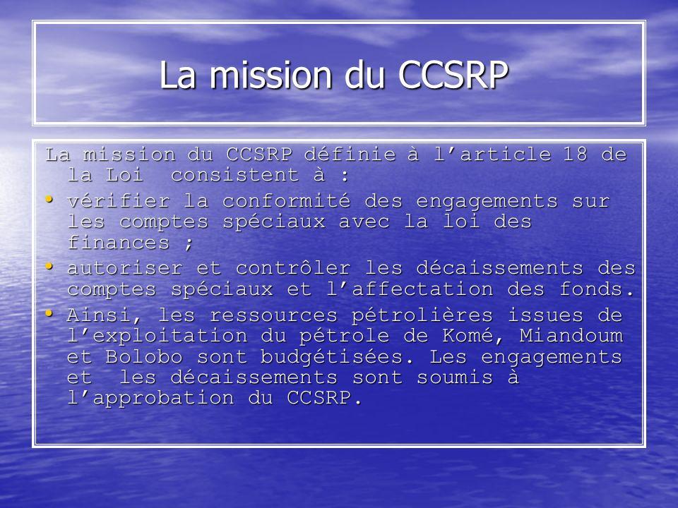 La mission du CCSRP La mission du CCSRP définie à l'article 18 de la Loi consistent à :