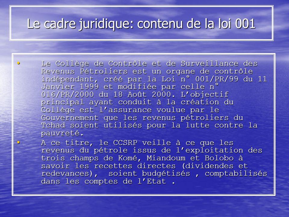 Le cadre juridique: contenu de la loi 001