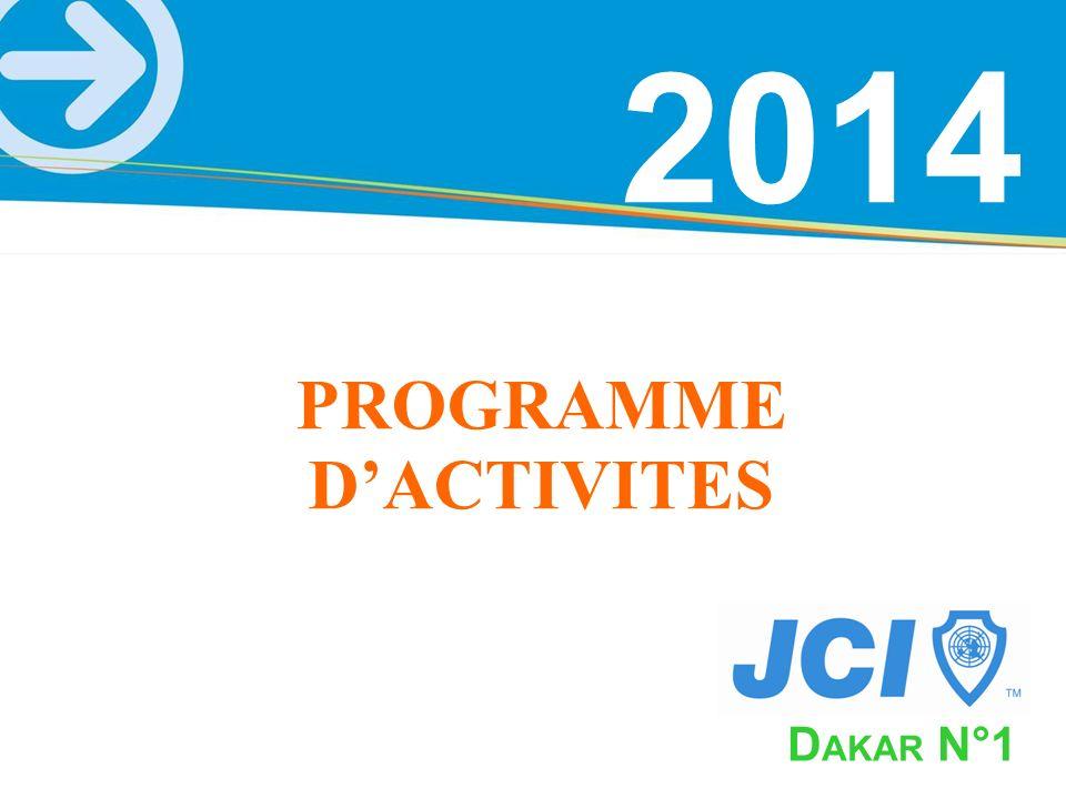 PROGRAMME D'ACTIVITES