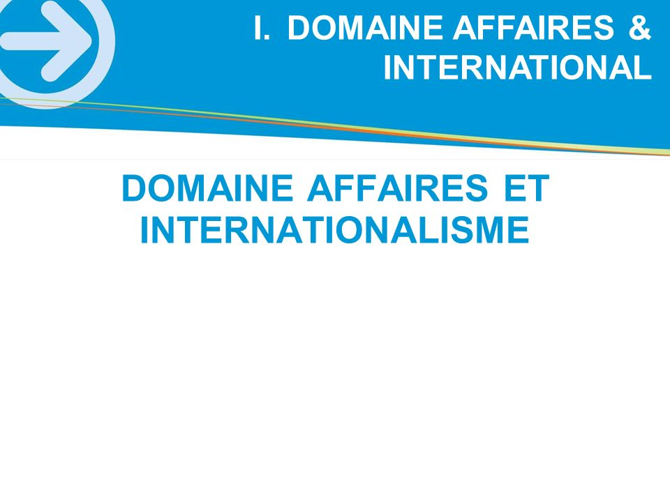 DOMAINE AFFAIRES ET INTERNATIONALISME