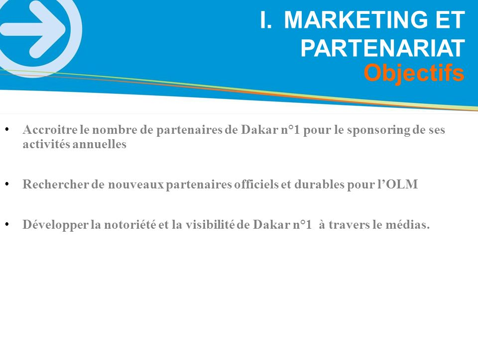 MARKETING ET PARTENARIAT
