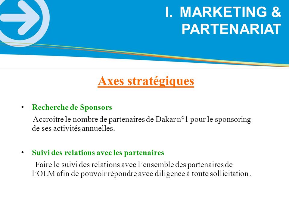 MARKETING & PARTENARIAT