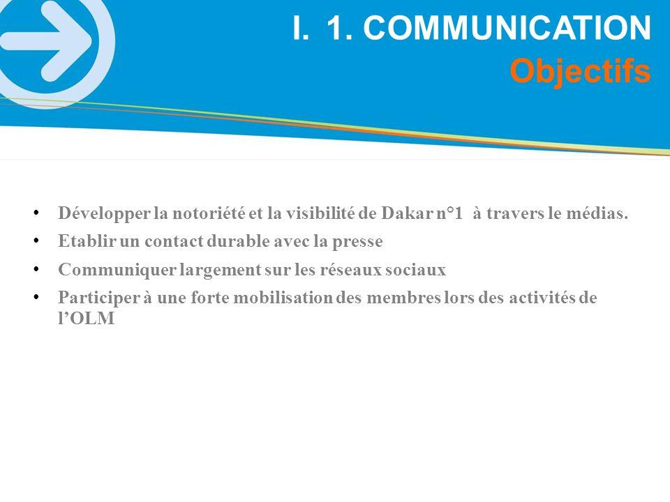 1. COMMUNICATION Objectifs