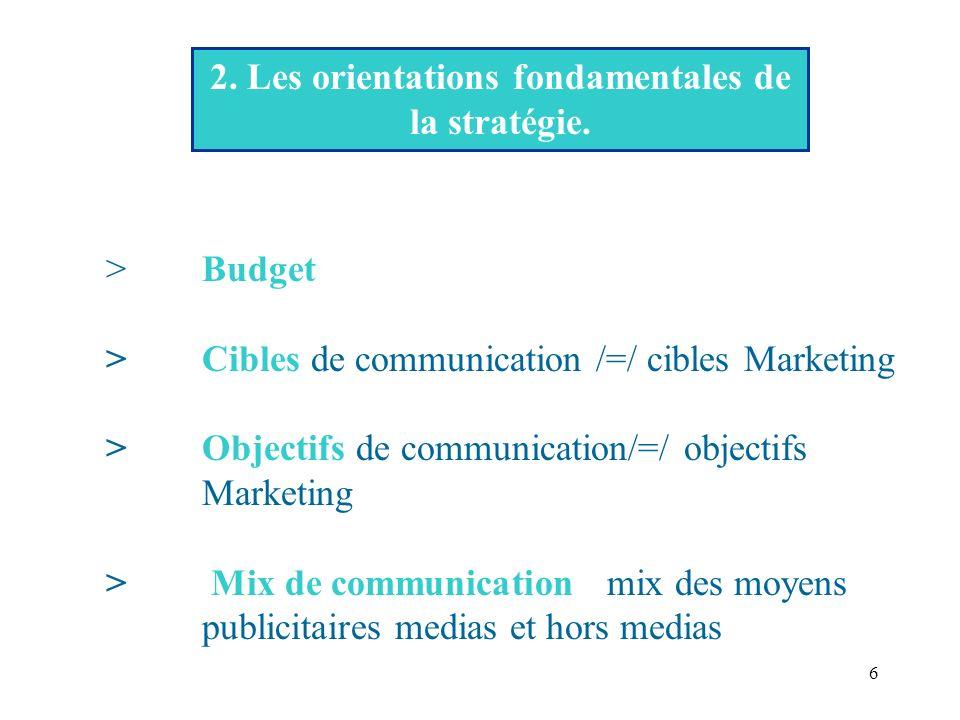2. Les orientations fondamentales de la stratégie.