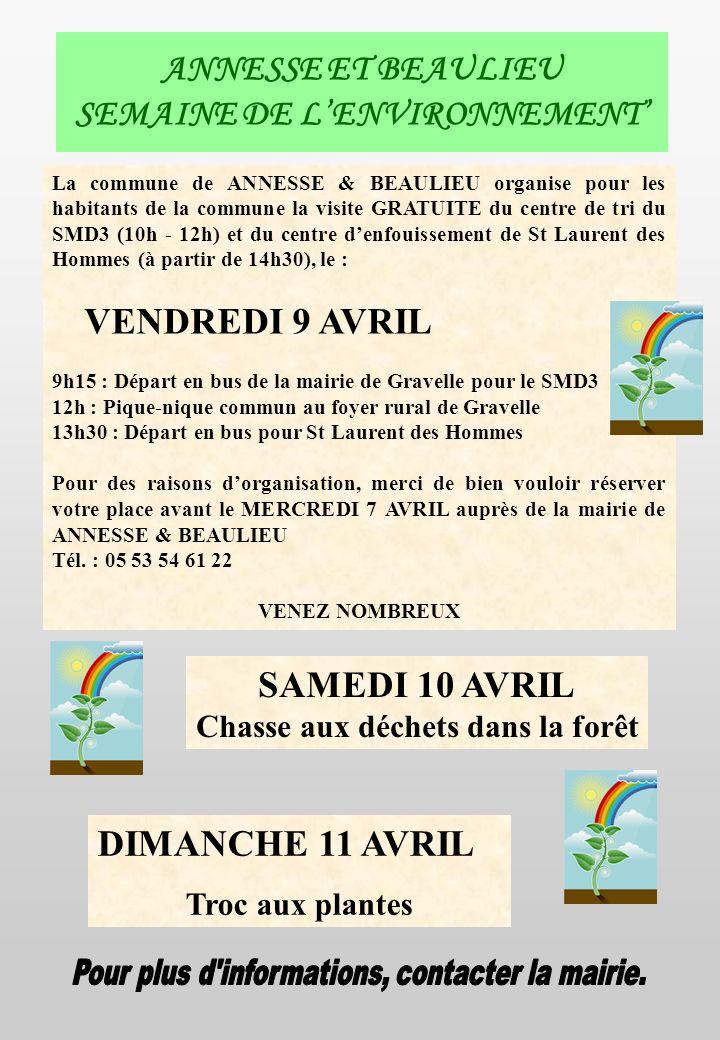 ANNESSE ET BEAULIEU SEMAINE DE L'ENVIRONNEMENT'