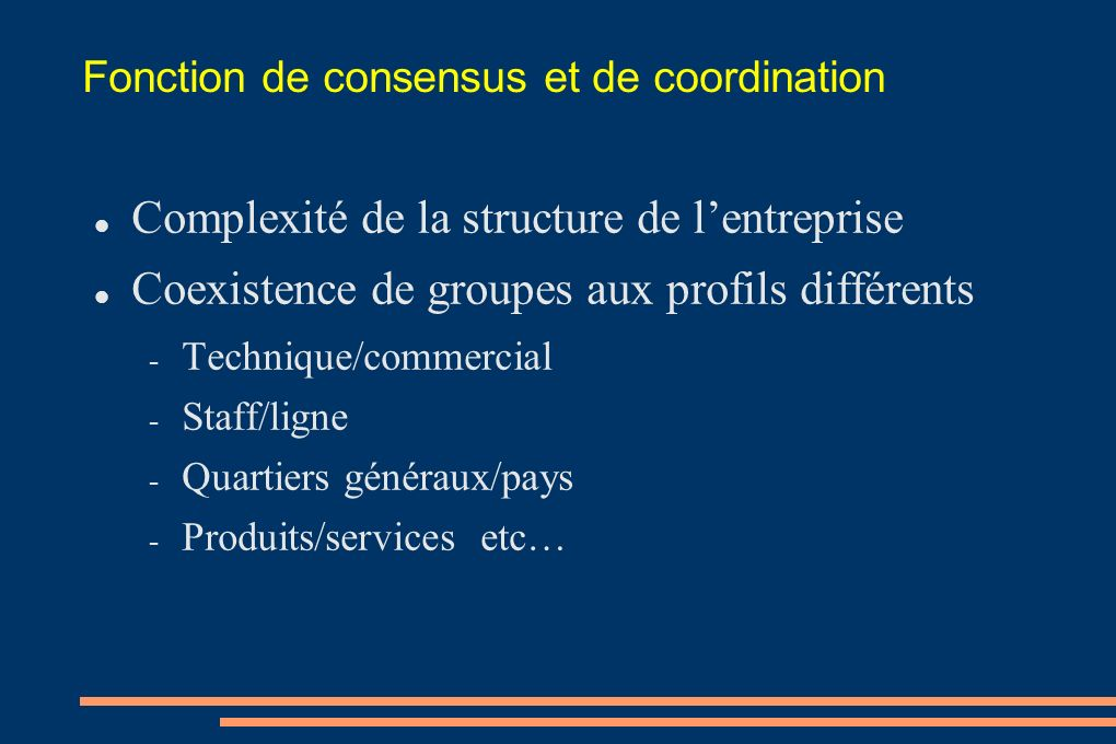 Fonction de consensus et de coordination
