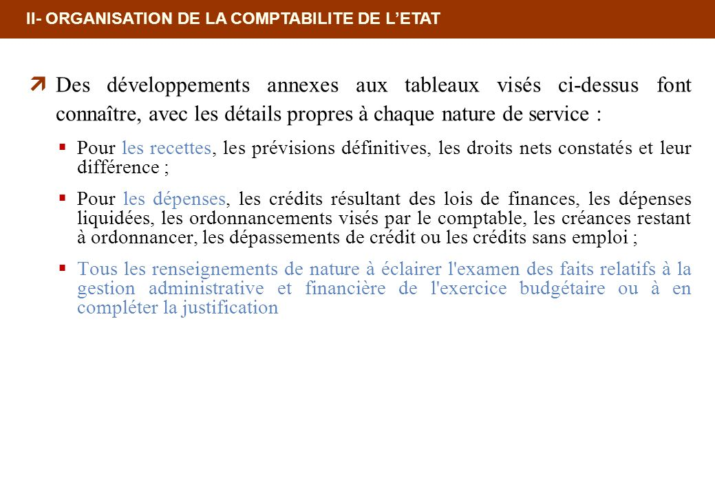 18/02/10 12:35 PM II- ORGANISATION DE LA COMPTABILITE DE L'ETAT.