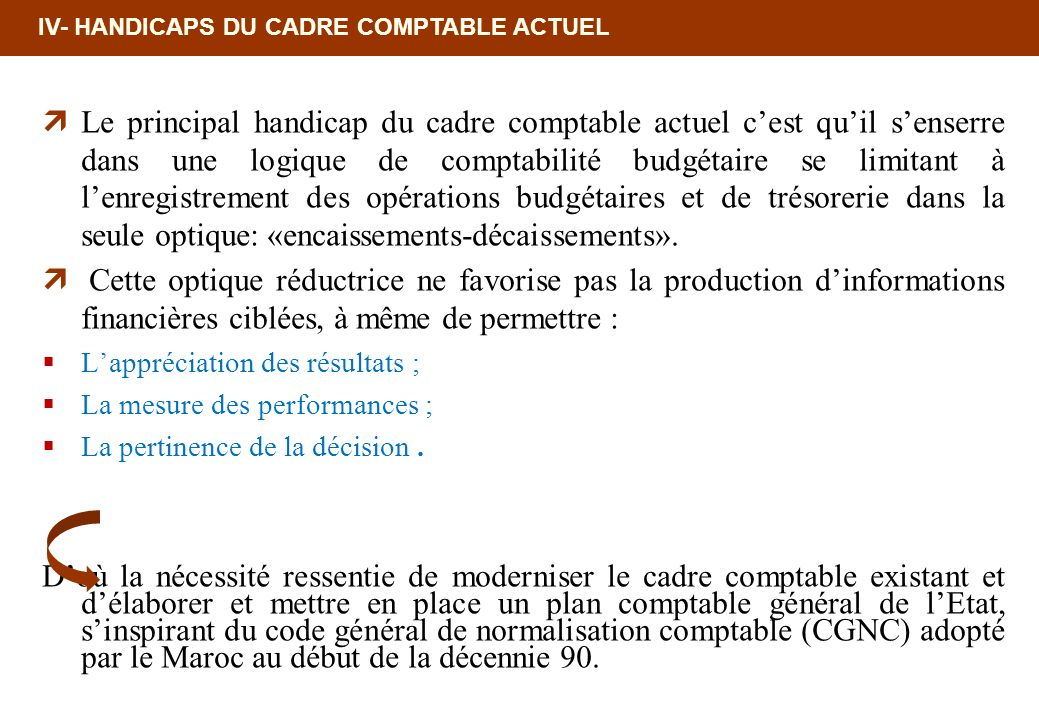 18/02/10 12:35 PM IV- HANDICAPS DU CADRE COMPTABLE ACTUEL.