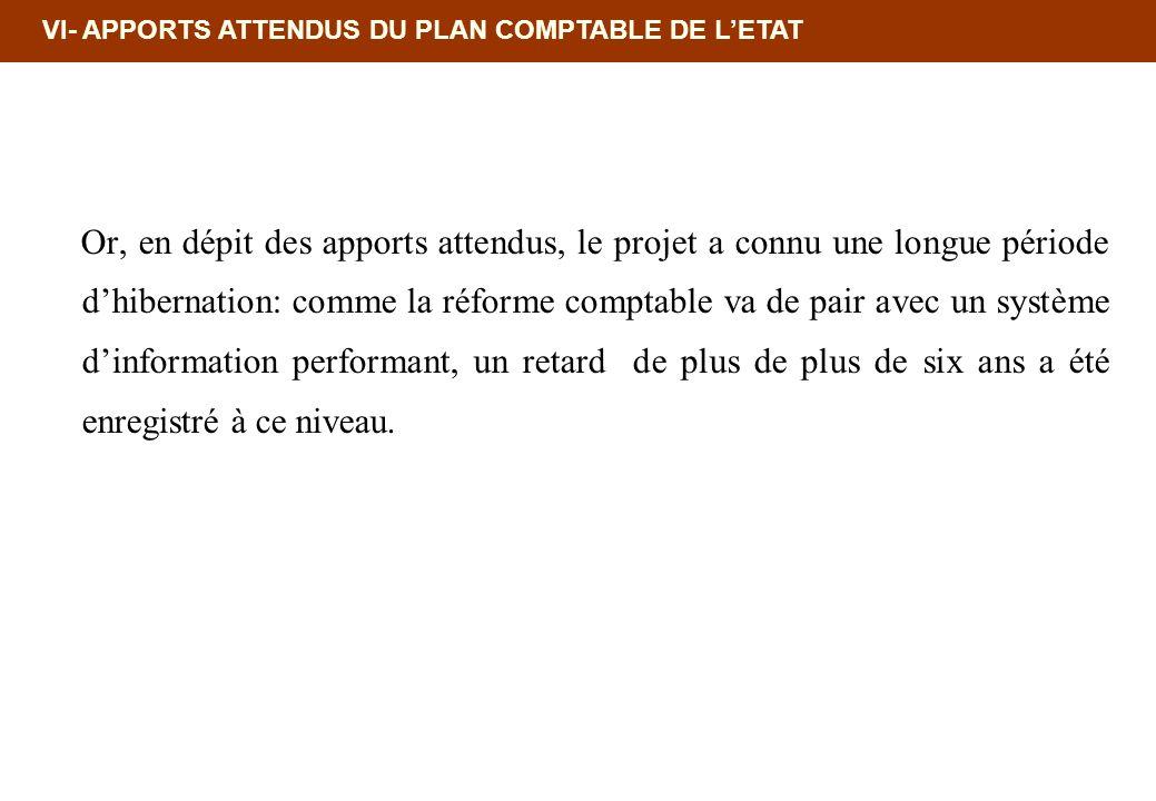 18/02/10 12:35 PM VI- APPORTS ATTENDUS DU PLAN COMPTABLE DE L'ETAT.