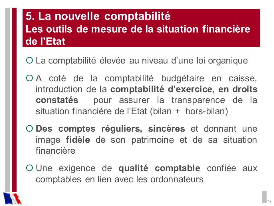 5. La nouvelle comptabilité Les outils de mesure de la situation financière de l'Etat
