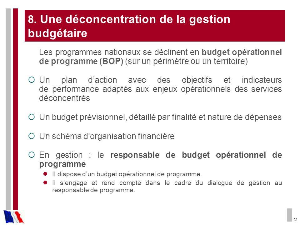 8. Une déconcentration de la gestion budgétaire