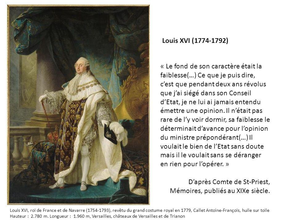 D'après Comte de St-Priest, Mémoires, publiés au XIXe siècle.