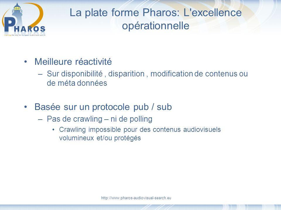 La plate forme Pharos: L excellence opérationnelle