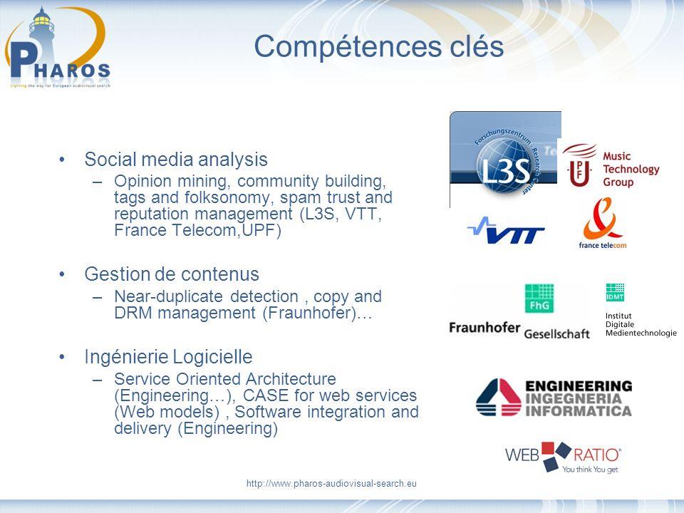 Compétences clés Social media analysis Gestion de contenus