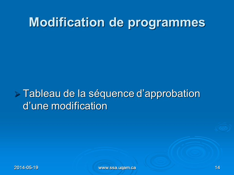 Modification de programmes
