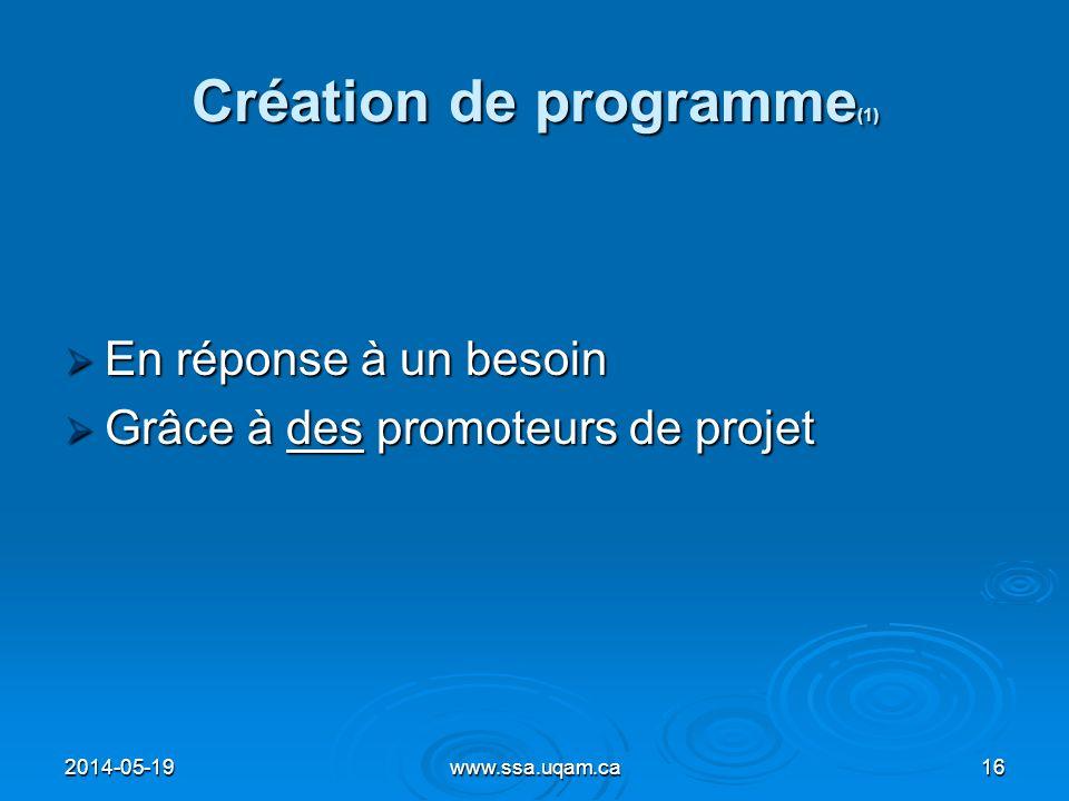 Création de programme(1)