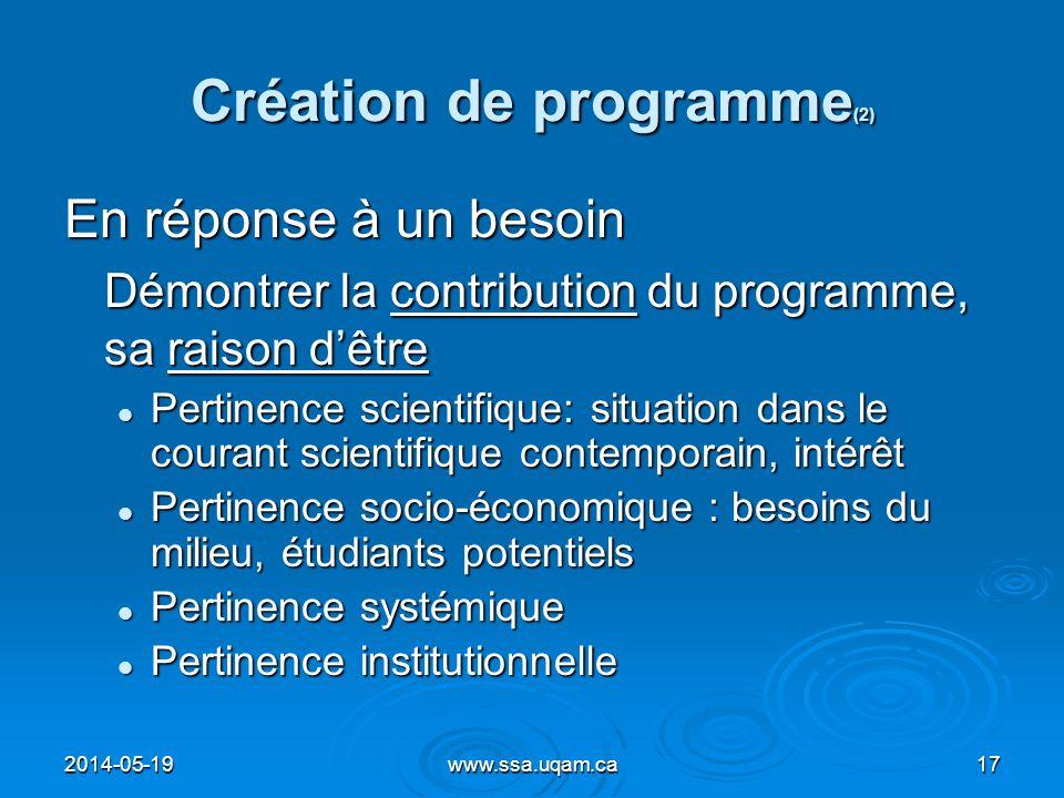 Création de programme(2)