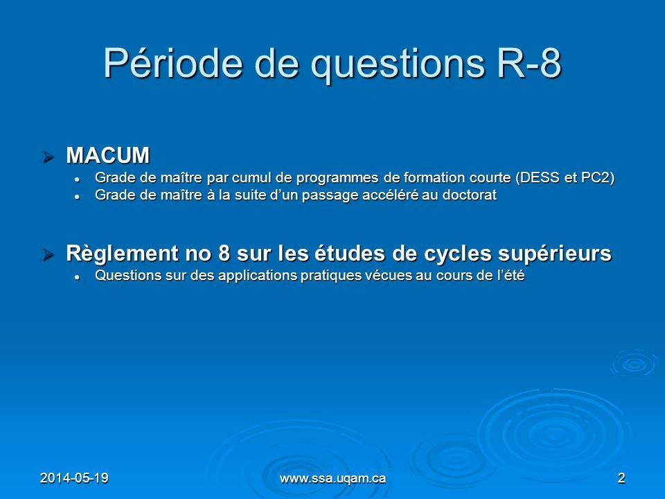 Période de questions R-8