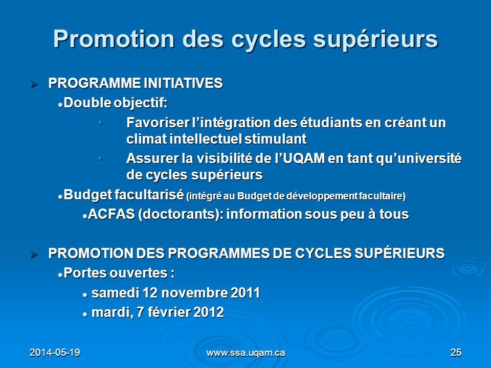 Promotion des cycles supérieurs
