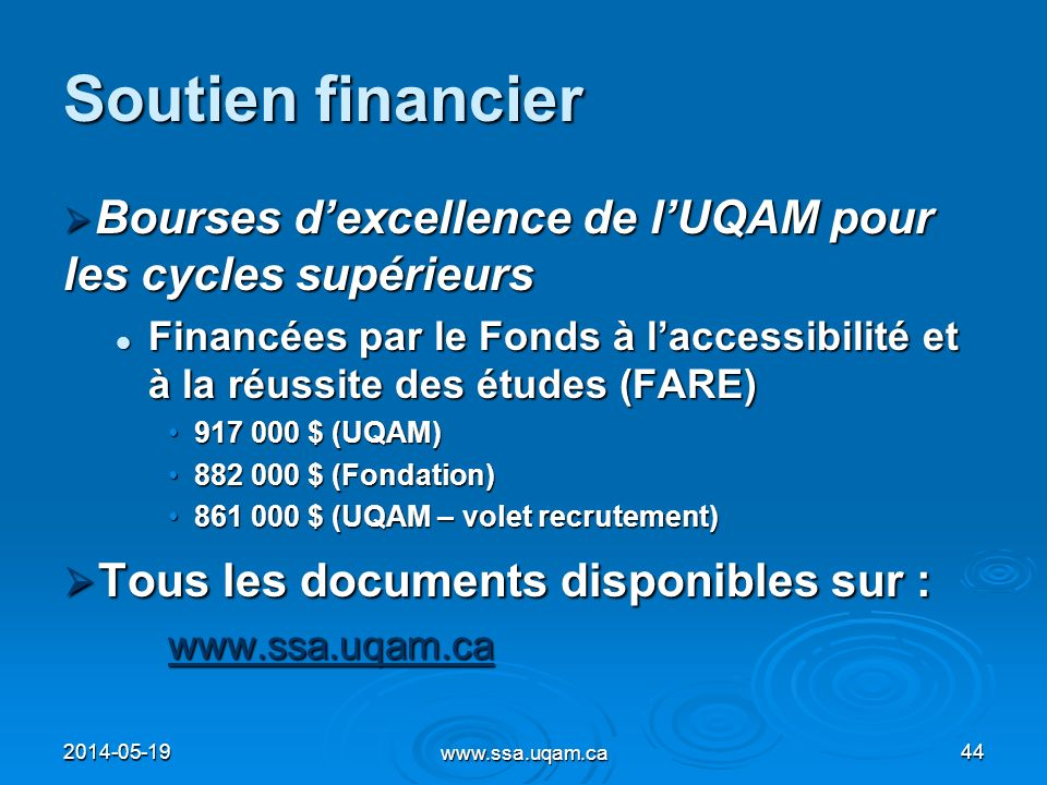 Soutien financier Tous les documents disponibles sur :