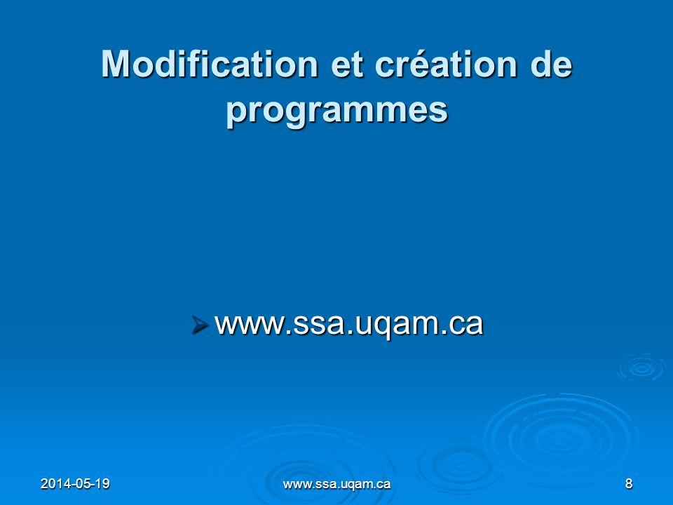 Modification et création de programmes