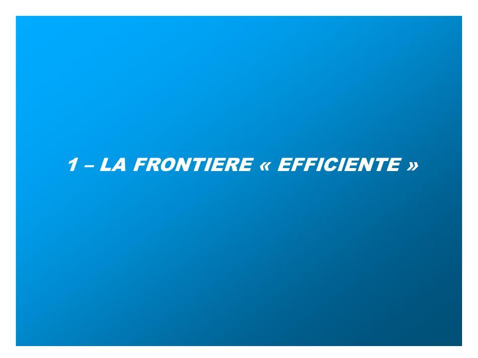 1 – LA FRONTIERE « EFFICIENTE »